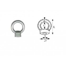 STAINLESS STEEL AISI 316 NUT WITH EYE 6 mm - REF. B7109100