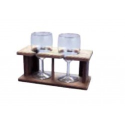 TEAK SHELF FOR 4 WINE GLASS...