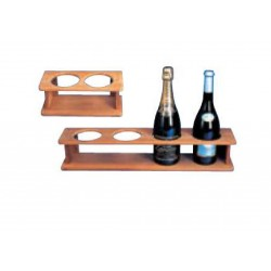 TEAK SHELF FOR 4 BOTTLES -...