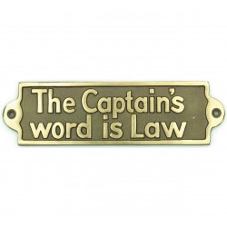 """BRONZE SIGN """"THE CAPTAIN'S..."""