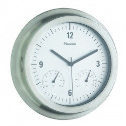 STAINLESS STEEL WALL CLOCK...