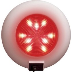 9 LEDS RED LAMP WITH SWITCH...